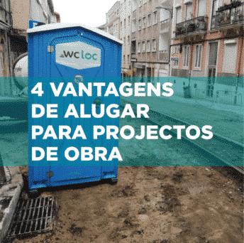 4 vantagens de alugar sanitas portáteis para projetos de obras