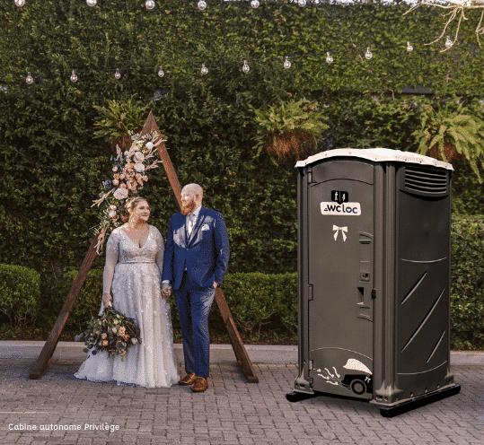 location cabine wc mariage