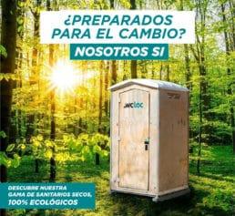 Sanitarios WC portátiles secos ecológicos compostaje para eventos
